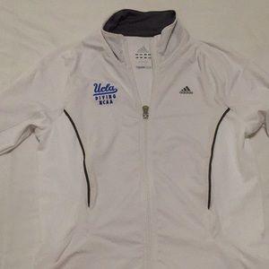 UCLA Adidas white sports jacket
